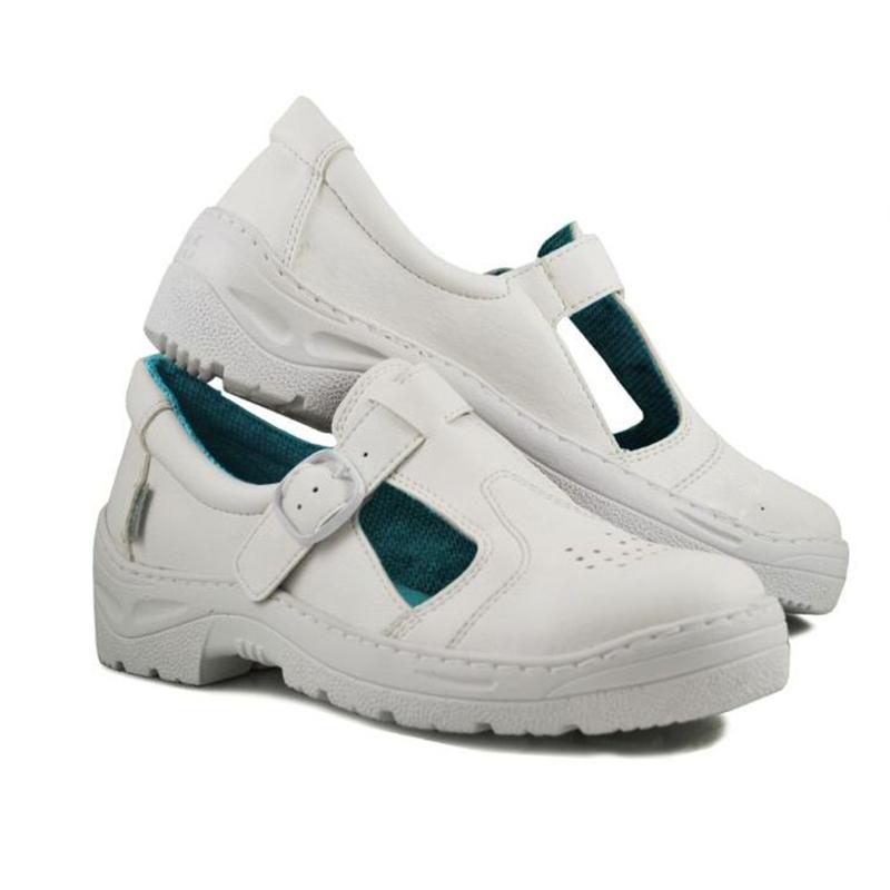 Sandale microfibra Kolmax, marimea 43, captuseala mesh, alb