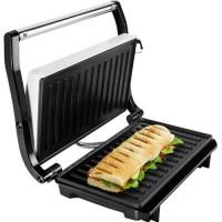 Sandwich maker ECG S 1070 Panini, 700 W, placi antiaderente, grill, maner termoizolat, indicator LED