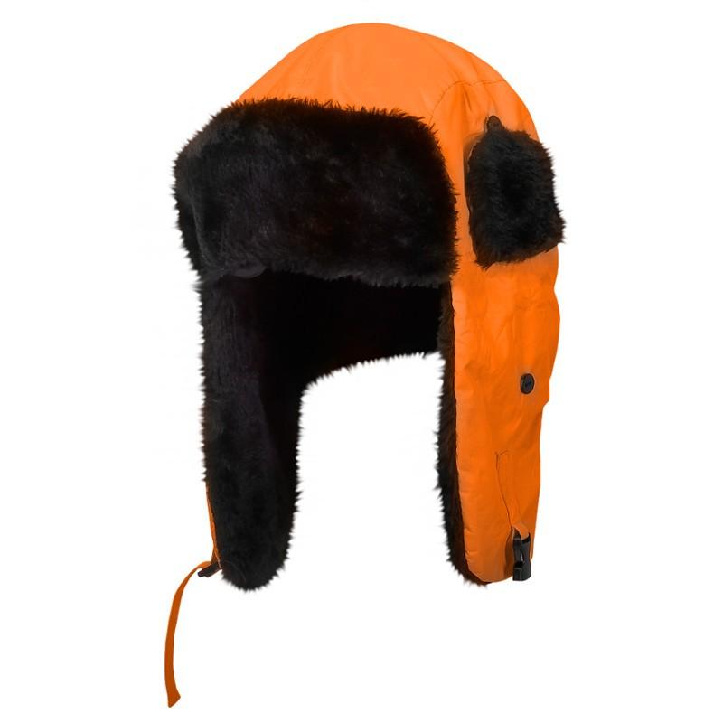 Sapca imblanita cu urechi Lahti Pro, pliabila, portocaliu shopu.ro