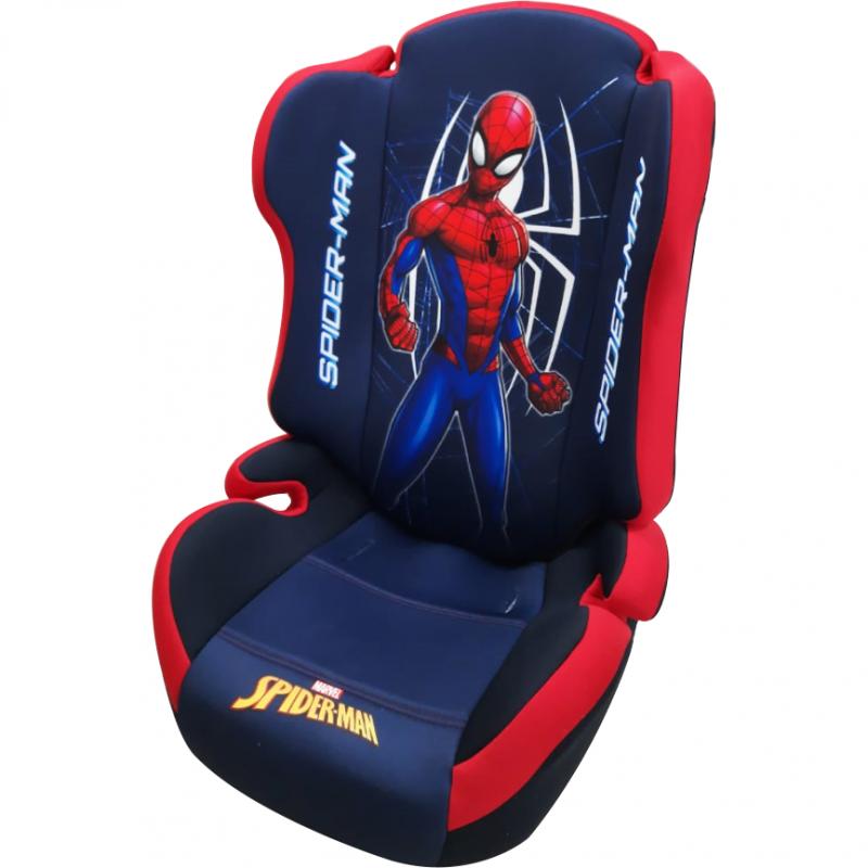 Scaun auto Spiderman Disney, 15 - 36 kg, 3 - 12 ani, tetiera ajustabila, Albastru 2021 shopu.ro