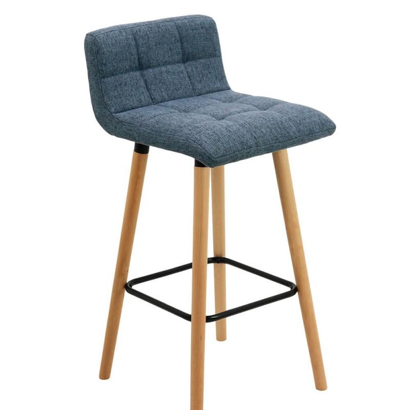 Scaun pentru bar, inaltime 93 cm, suporta maxim 100 kg, Albastru