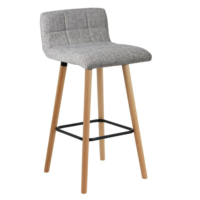 Scaun pentru bar, inaltime 93 cm, suporta maxim 100 kg, Gri 2021 shopu.ro