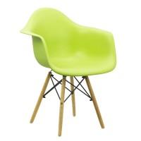 Scaun cafenea ABS, suporta maxim 100 kg, picioare lemn de fag, verde