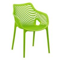 Scaun termoplastic pentru exterior, suporta maxim 110 kg, Verde