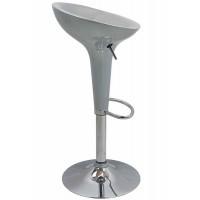 Scaun ABS pentru bar, inaltime 88 cm, suporta maxim 90 kg, Argintiu