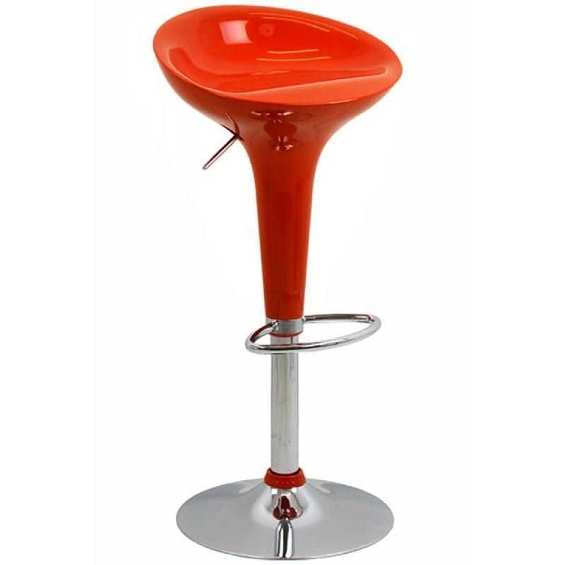 Scaun ABS pentru bar, inaltime 88 cm, suporta maxim 90 kg, Portocaliu 2021 shopu.ro