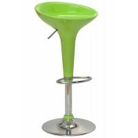 Scaun ABS pentru bar, inaltime 88 cm, suporta maxim 90 kg, Verde