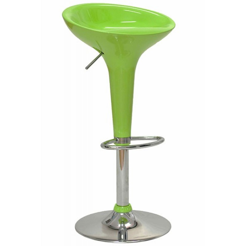 Scaun ABS pentru bar, inaltime 88 cm, suporta maxim 90 kg, Verde 2021 shopu.ro