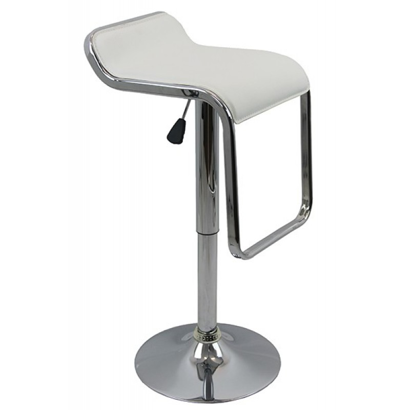 Scaun pentru bar, inaltime 88 cm, suporta maxim 100 kg, Alb 2021 shopu.ro