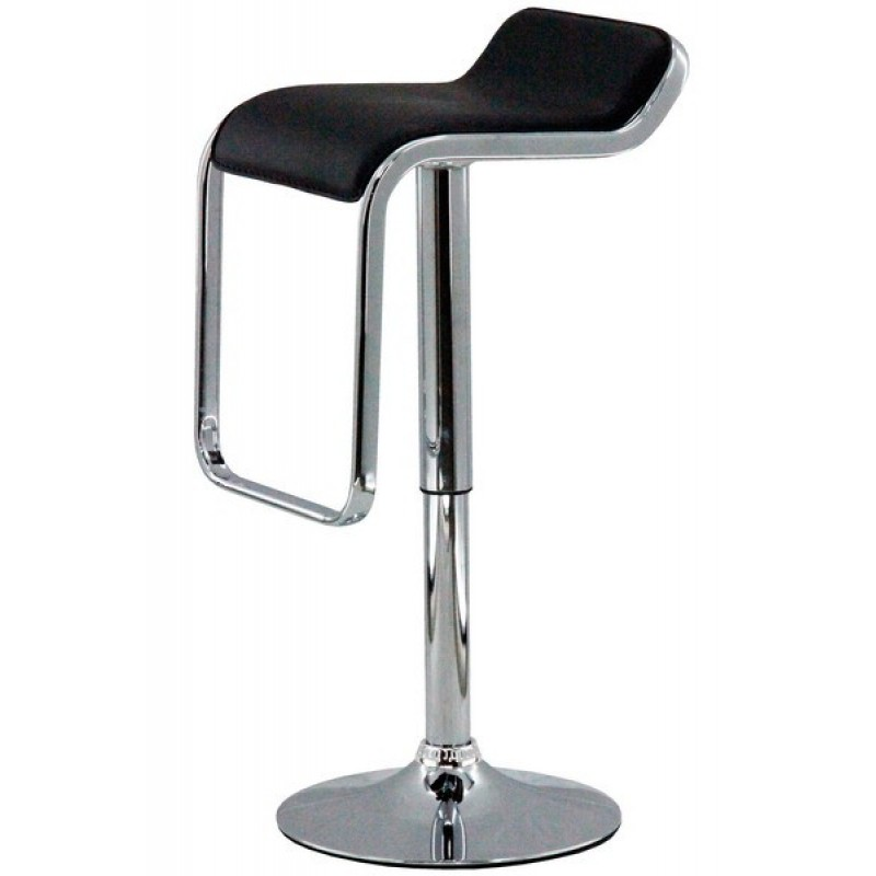 Scaun pentru bar, inaltime 88 cm, suporta maxim 100 kg, Negru 2021 shopu.ro
