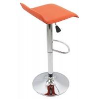 Scaun pentru bar, inaltime 86 cm, suporta maxim 100 kg, Portocaliu