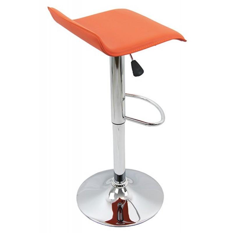 Scaun pentru bar, inaltime 86 cm, suporta maxim 100 kg, Portocaliu 2021 shopu.ro