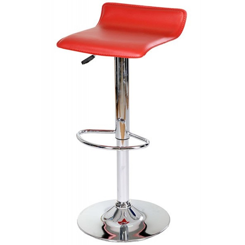 Scaun pentru bar, inaltime 86 cm, suporta maxim 100 kg, Rosu