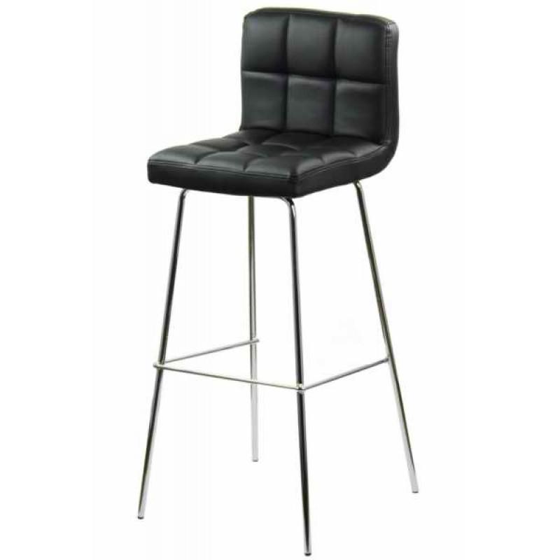 Scaun pentru bar, inaltime 97 cm, suporta maxim 100 kg, Negru 2021 shopu.ro