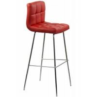 Scaun pentru bar, inaltime 97 cm, suporta maxim 100 kg, Rosu