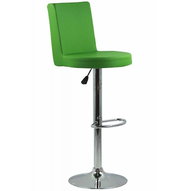 Scaun pentru bar, complet capitonat cu piele sintetica, inaltime maxima 112 cm, Verde 2021 shopu.ro