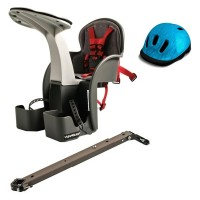 Scaun bicicleta WeeRide, 1-4 ani, maxim 15 kg, marime universala, casca protectie Flames