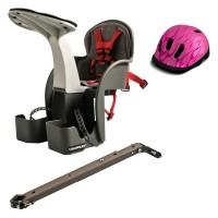 Scaun bicicleta WeeRide, 1-4 ani, maxim 15 kg, tetiera, centura siguranta, model universal, casca protectie Flames