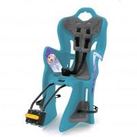 Scaun de bicicleta spate Frozen Disney, maxim 22 kg, inaltime reglabila, sistem Multifix, 7 ani, Albastru