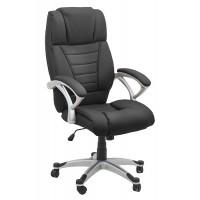 Scaun pentru birou, inaltime maxima 121 cm, suporta maxim 100 kg, Negru