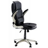 Scaun pentru birou, inaltime maxima 121 cm, suporta 100 kg, Negru