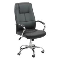 Scaun pentru birou, inaltime maxima 113 cm, suporta maxim 113 cm, Negru