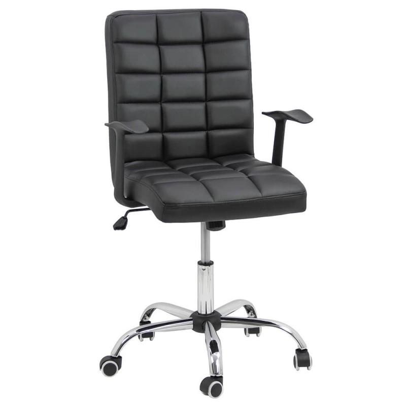 Scaun pentru birou, inaltime 107 cm, suporta maxim 100 kg, Negru