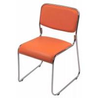 Scaun de conferinta, tapitat cu PVC, inaltime 77 cm, suporta maxim 120 kg, portocaliu
