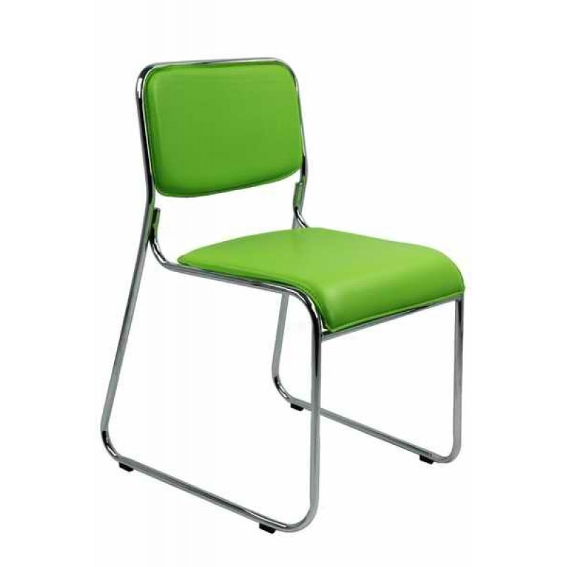 Scaun de conferinta, tapiterie PVC, inaltime 77 cm, maxim 120 kg, verde 2021 shopu.ro