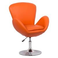 Scaun relaxare, piele ecologica, inaltime 97 cm, suporta maxim 100 kg, portocaliu