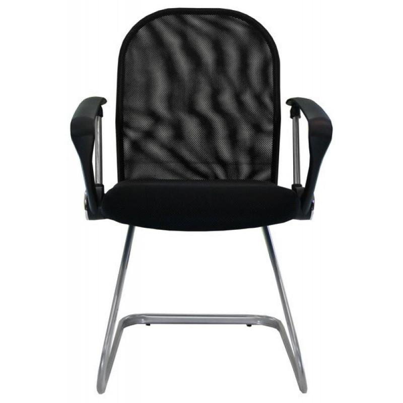 Scaun de vizitatori, suporta maxim 110 kg, material mesh, negru 2021 shopu.ro