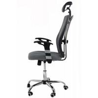 Scaun ergonomic de birou, inaltime 128 cm, suporta maxim 110 kg, gri