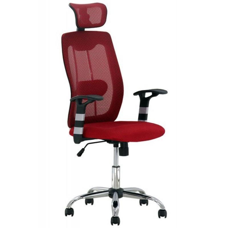 Scaun ergonomic de birou, inaltime 128 cm, suporta maxim 110 kg, rosu 2021 shopu.ro