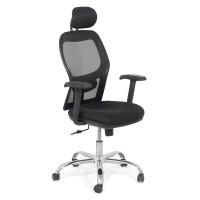 Scaun ergonomic de birou, maxim 110 kg, material mesh, Negru