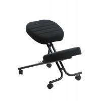Scaun ergonomic Kneeling Chair, inaltime 60 cm, suporta maxim 100 kg, negru