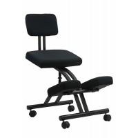 Scaun ergonomic kneeling chair, suporta maxim 100 kg, negru