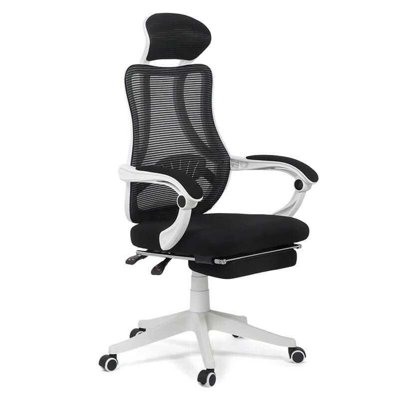 Scaun ergonomic pentru birou, suporta maxim 100 kg, Alb/Negru shopu.ro