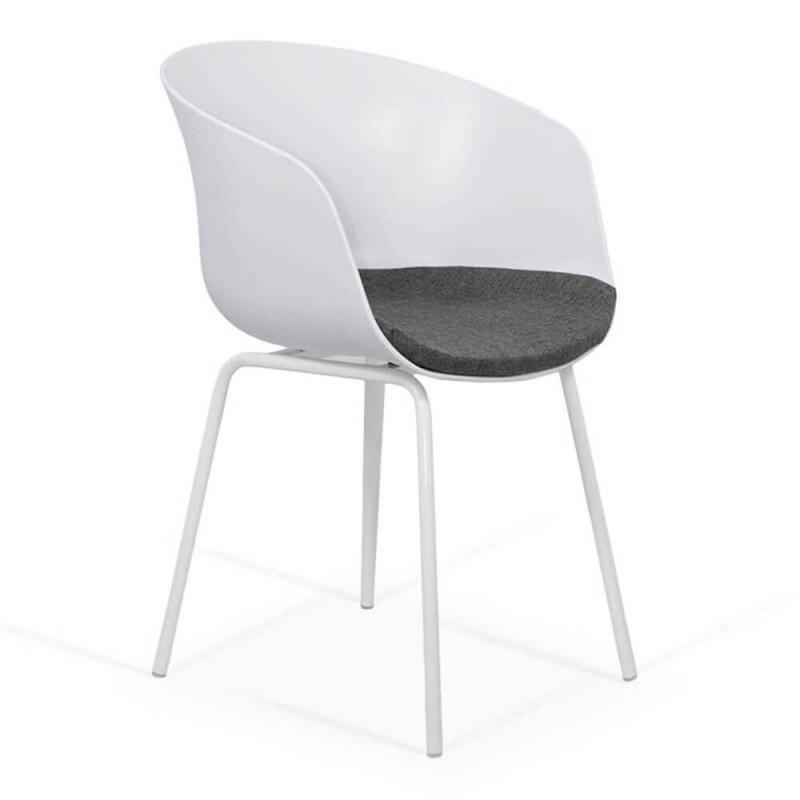 Scaun pentru living, inaltime 79 cm, baza metalica, perna textila 2021 shopu.ro