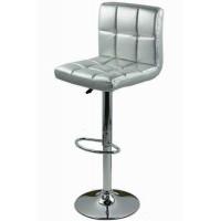 Scaun pentru bar, rotativ, otel cromat, piele sintetica, inaltime 113 cm, Argintiu
