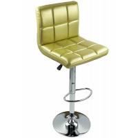 Scaun pentru bar, rotativ, otel cromat, piele sintetica, inaltime 113 cm, Auriu