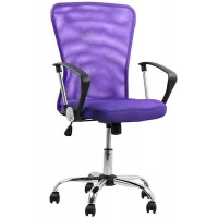 Scaun pentru birou, inaltime 108 cm, suporta maxim 110 kg, Mov