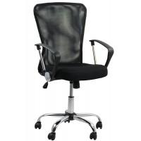 Scaun pentru birou, inaltime 108 cm, suporta maxim 110 kg, Negru