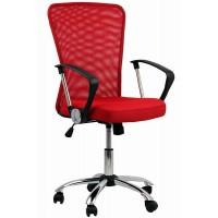 Scaun pentru birou, inaltime 108 cm, suporta maxim 110 kg, Rosu