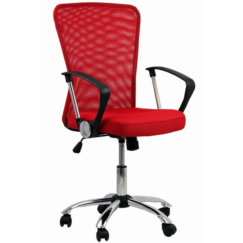 Scaun pentru birou, inaltime 108 cm, suporta maxim 110 kg, Rosu 2021 shopu.ro