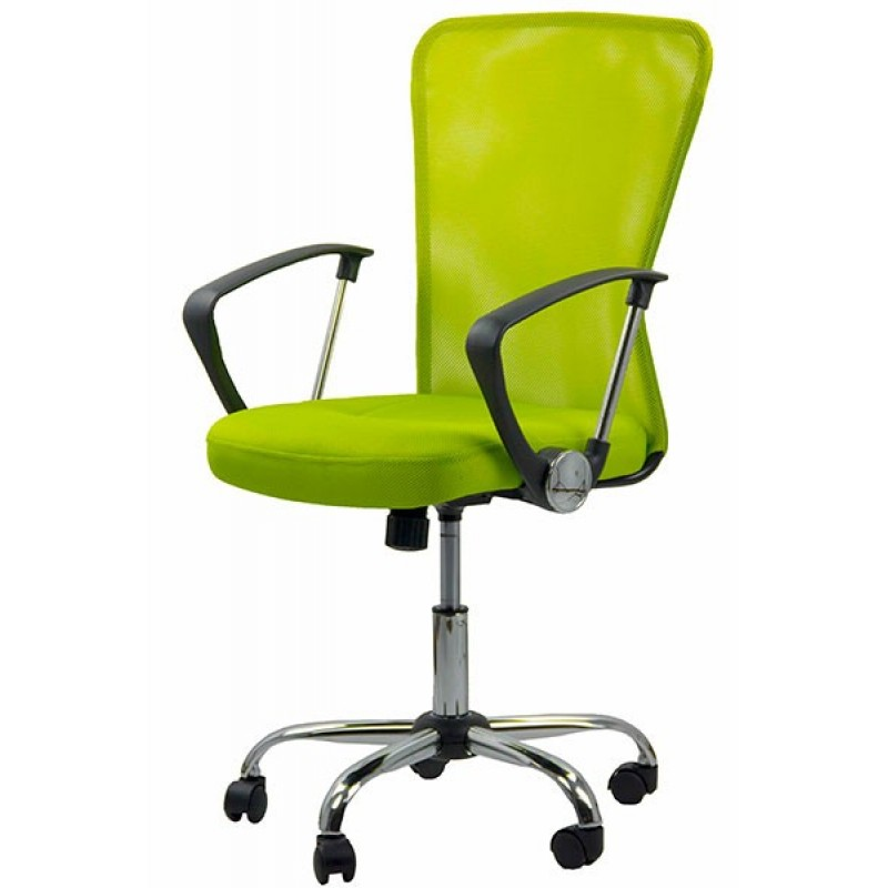 Scaun pentru birou, inaltime 108 cm, suporta maxim 110 kg, Verde shopu.ro