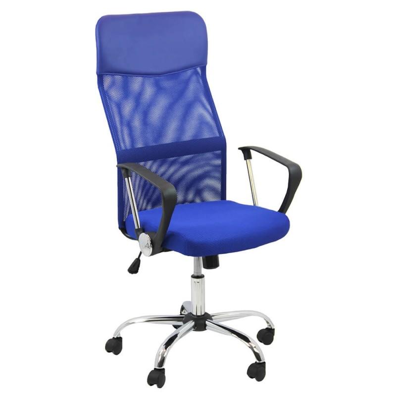 Scaun ergonomic birou, inaltime 122 cm, cadru metal, albastru 2021 shopu.ro