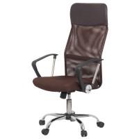 Scaun ergonomic birou, inaltime 122 cm, cadru metal, maro