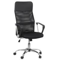 Scaun ergonomic birou, inaltime 122 cm, cadru metal, negru