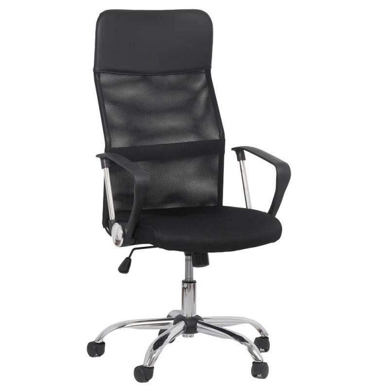 Scaun ergonomic birou, inaltime 122 cm, cadru metal, negru 2021 shopu.ro