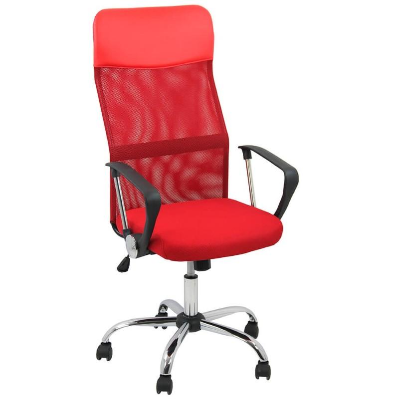 Scaun ergonomic birou, inaltime 122 cm, cadru metal, rosu 2021 shopu.ro
